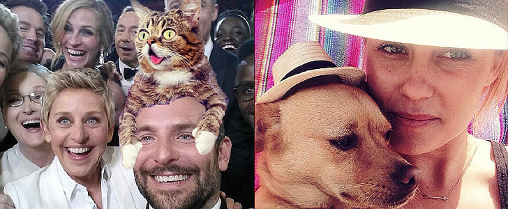 March's Famous Selfies, Cozy Celebrity Snaps, and Fluffy Friends