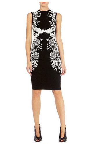 Geometric Jacquard Knit Dress
