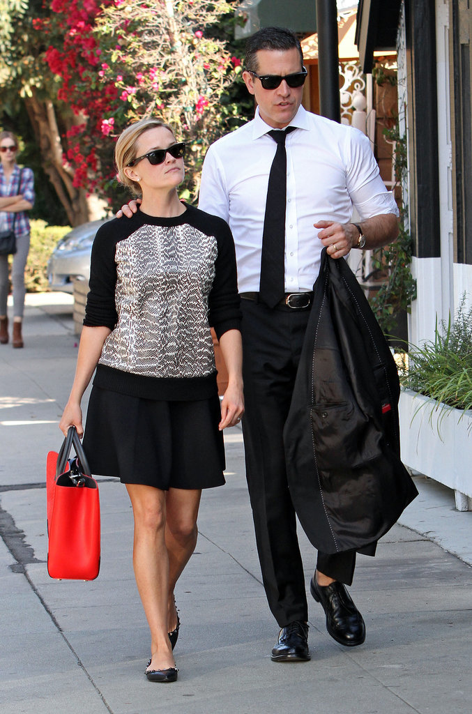 Reese Witherspoon in Snakeskin Jason Wu Sweatshirt
