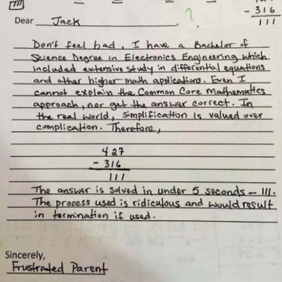 Common Core Problem Goes Viral
