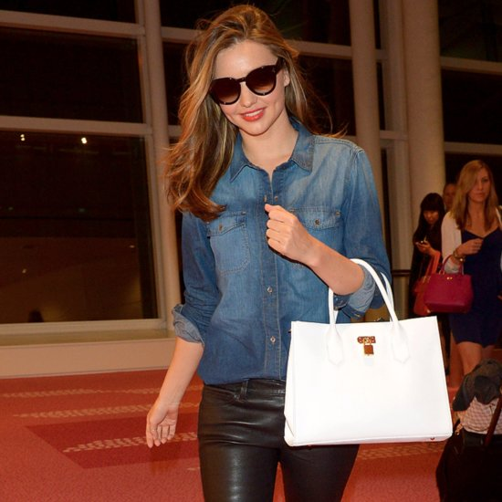 Miranda Kerr Wearing Reebok Sneakers at the Airport