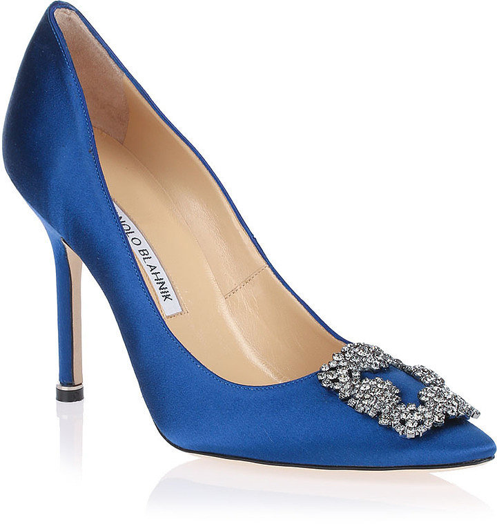 Blue Manolo Blahnik Pumps