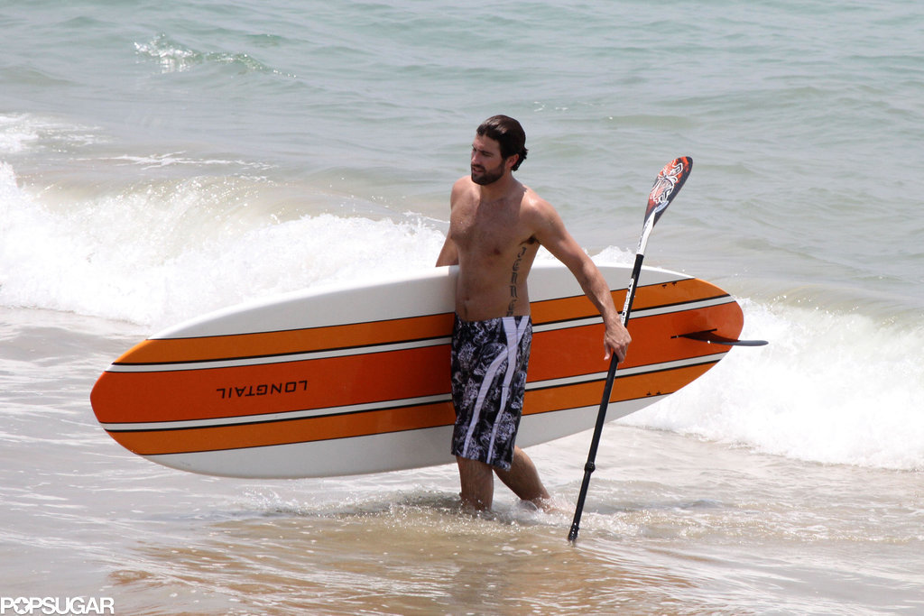 Brody Jenner wrapped up a paddleboarding session.