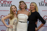 Leslie Mann, Kate Upton, and Cameron Diaz premiered The Other Woman in Amsterdam on Tuesday.