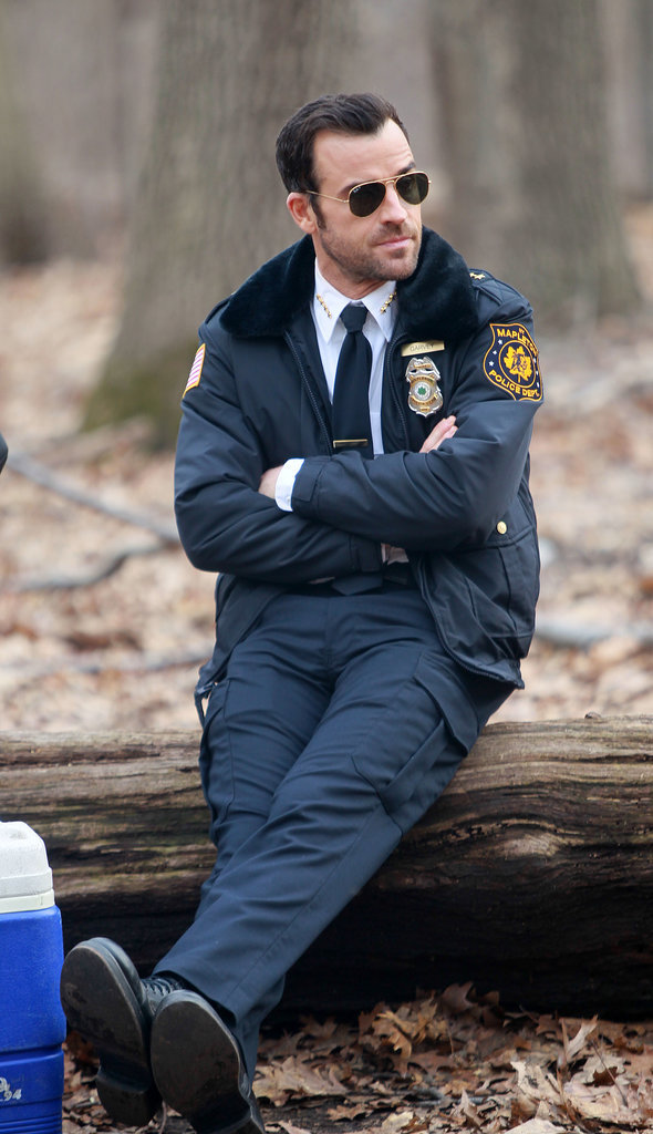 On Tuesday, Justin Theroux filmed scenes for The Leftovers in NYC.
