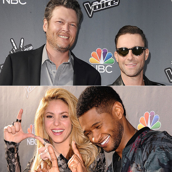 Shakira and Adam Levine at The Voice Red Carpet | Pictures