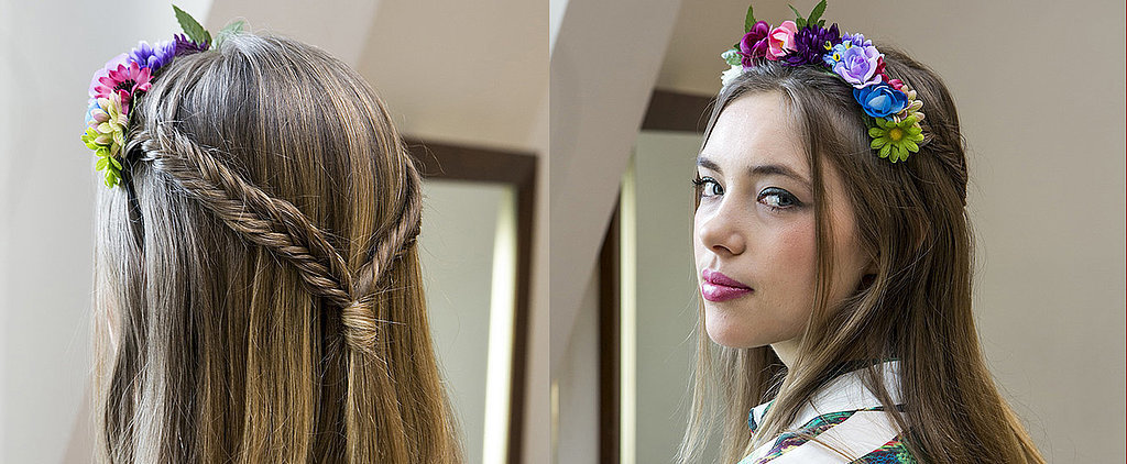 DIY This Double French Fishtail Braided Hairstyle For Festivals