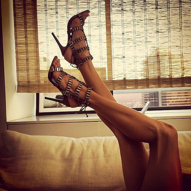 Alessandra Ambrosio showed off her sexy stems — and her shoes! Source: Instagram user alessandraambrosio