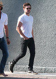 Zac Efron went shopping in Hollywood on Thursday.