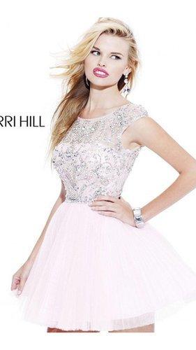 2014 White Sherri Hill 2814 Short Prom Dress