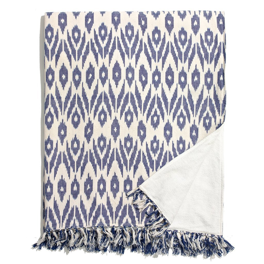 Piece & Co. For Madewell Blue Printed Blanket
