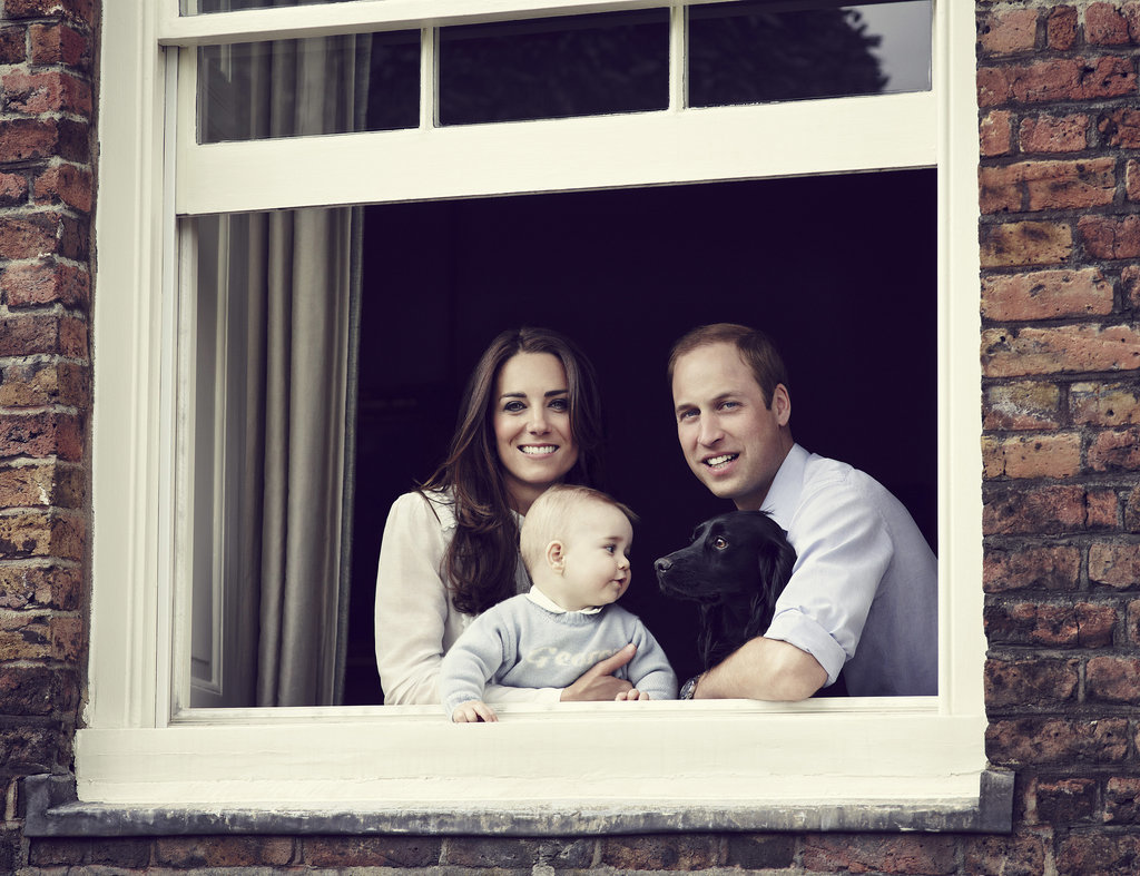 In June 2014, Kate, William, Lupo, and George posed for their second official family portrait at Kensington Palace in London.