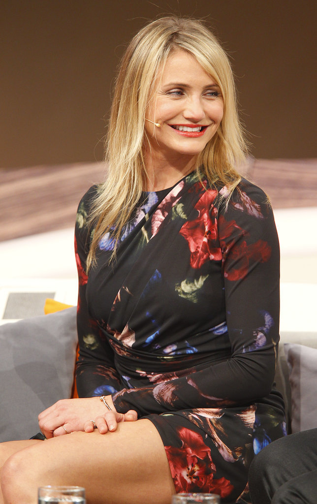 On Monday, Cameron Diaz flashed a smile on a German talk show.