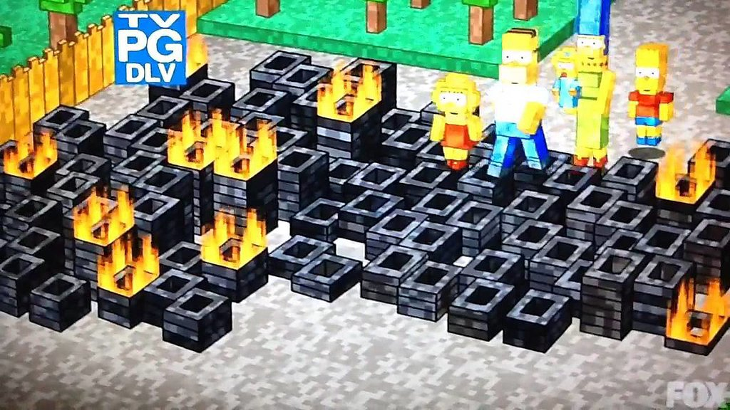 Minecraft x The Simpsons