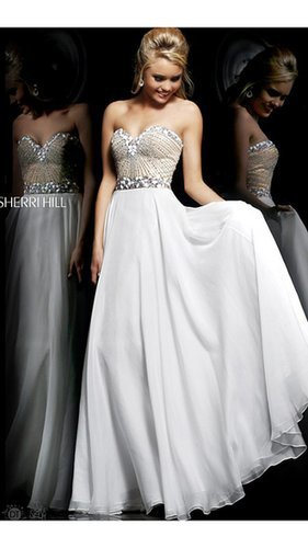 Beads White Prom Gown By Sherri Hill 1923