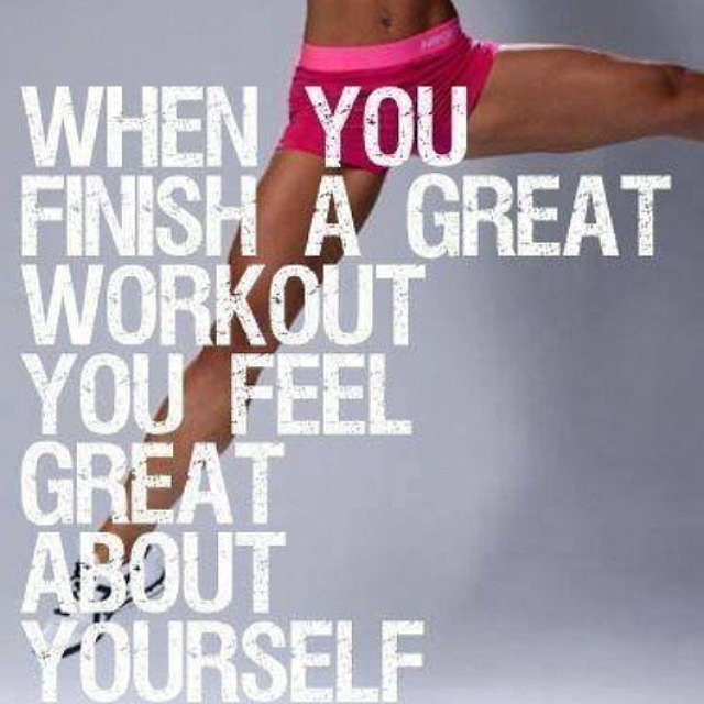 Always think about how you will feel after. Source: Instagram user fitnessgirlmotivation