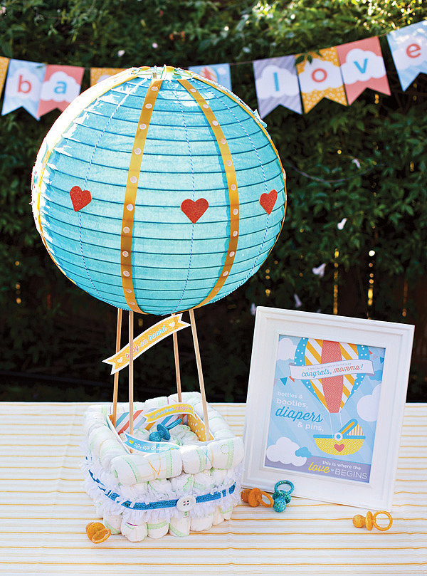 Hot Air Balloon Diaper Cake
