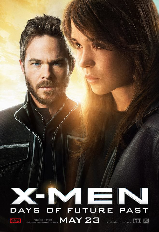 Shawn Ashmore and Ellen Page as Iceman and Kitty Pryde.