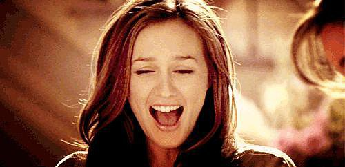 And when Blair's happy? She doesn't just put on some little smile.