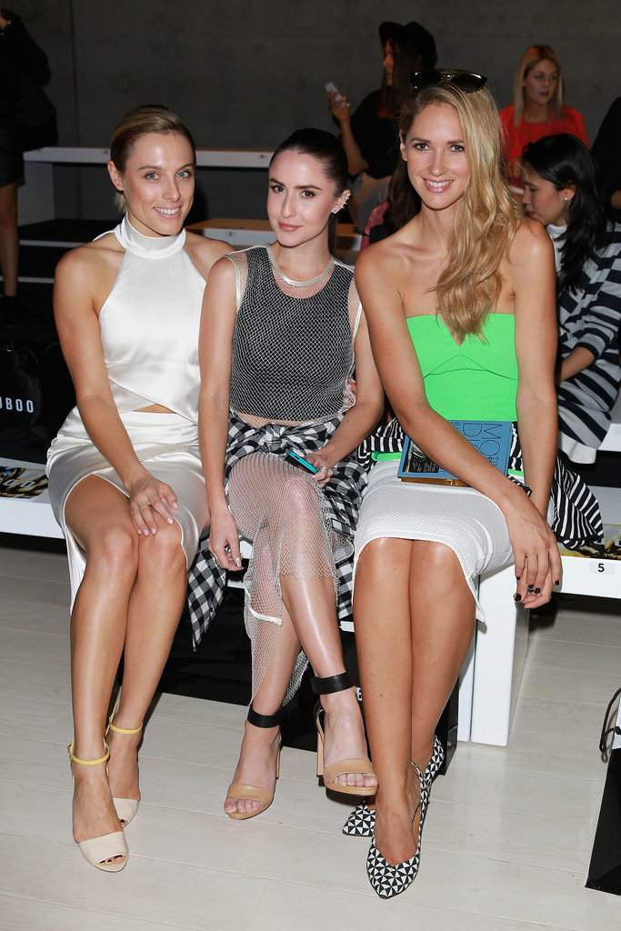 Casey Burgess, Talia Fowler and Nikki Phillips at MBFWA Day Four