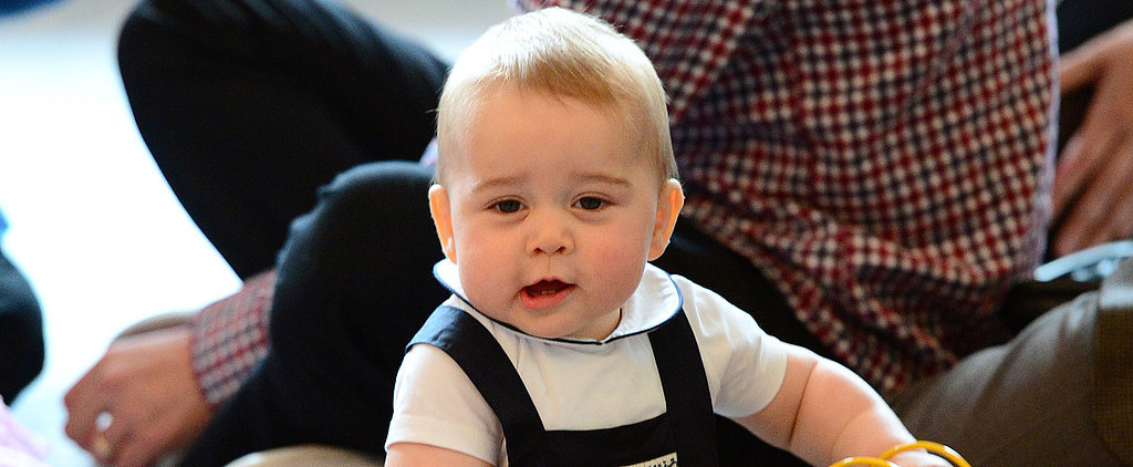 Watch Prince George Work His Wiggly Royal Charm on Local Children