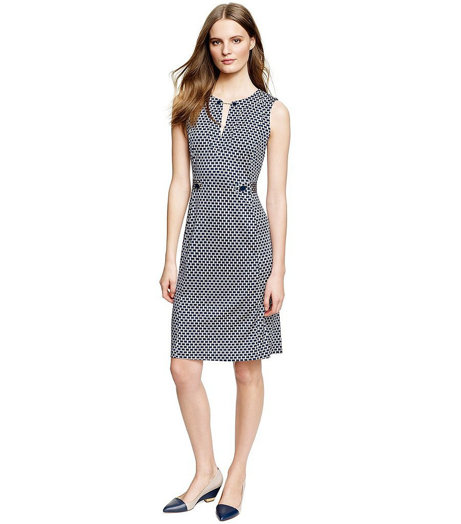 Tory Burch black-and-white geometric-print Tara dress ($425)