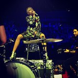 "Madonna shared an ""up close and personal"" shot of Miley Cyrus performing in Brooklyn. Source: Instagram user madonna"