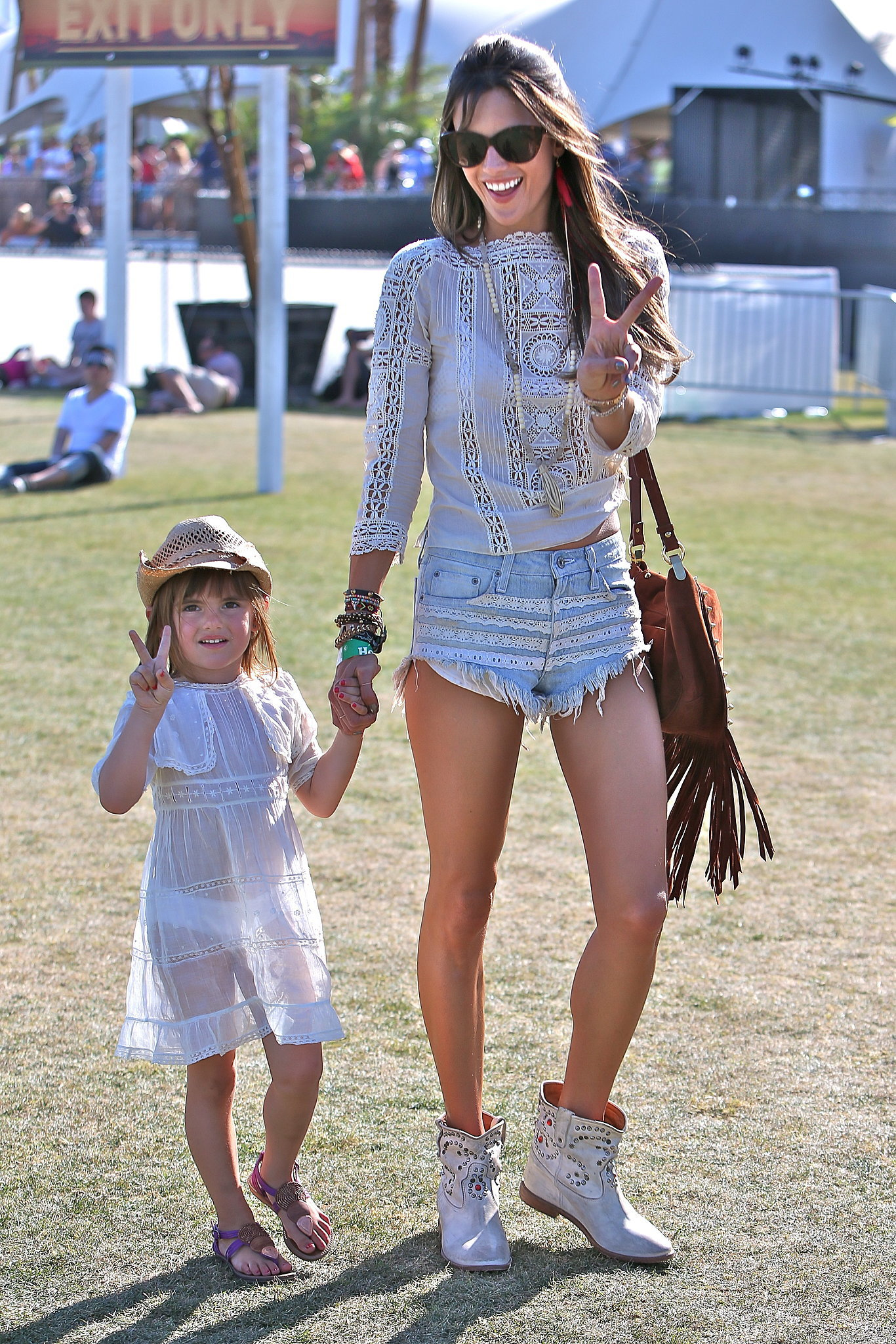 Alessandra Ambrosio brought her daughter, Anja, to watch The Lumineers perform at Coachella in 2013.