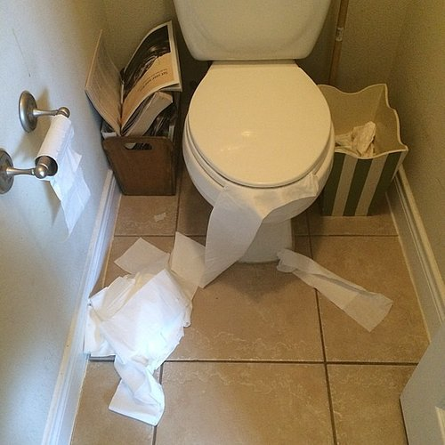 Your Toilet-Paper Roll Is Always Unraveled