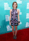 Emma Watson in Graphic Brood Mini at 2012 MTV Movie Awards