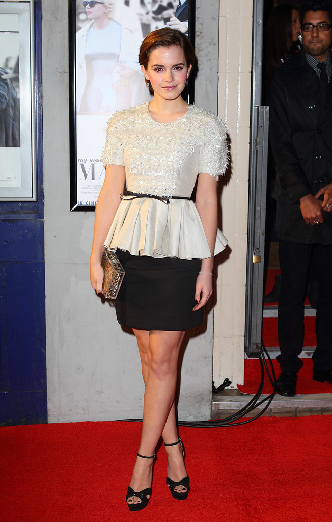 Emma Watson in Jason Wu Peplum Top at 2011 My Week With Marilyn UK Premiere