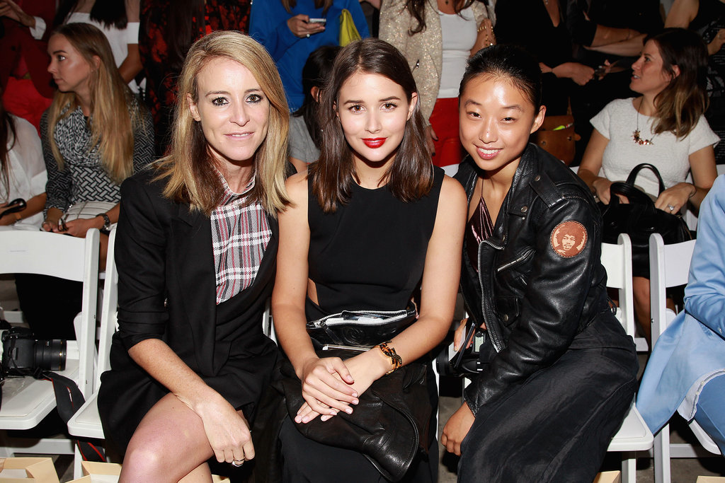 Mandy Shadforth, Sara Donaldson and Margaret Zhang at MBFWA Day Five