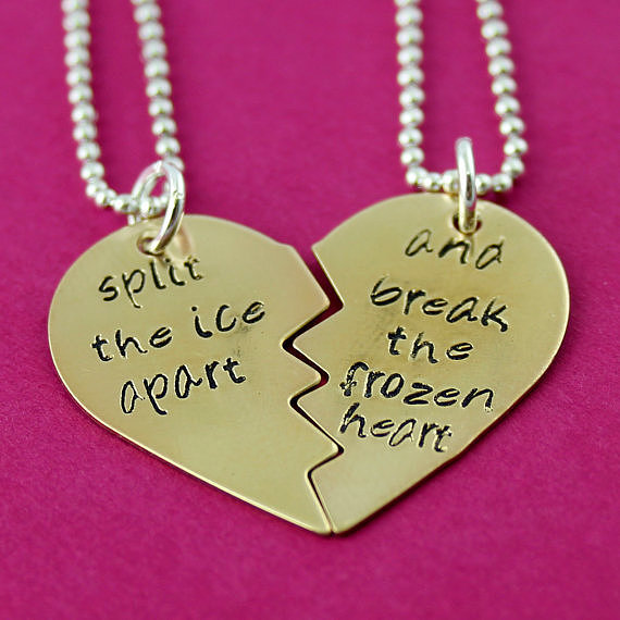 Split the Ice Apart Friendship Necklace Set