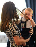 Even Prince George pulls his mom's hair.
