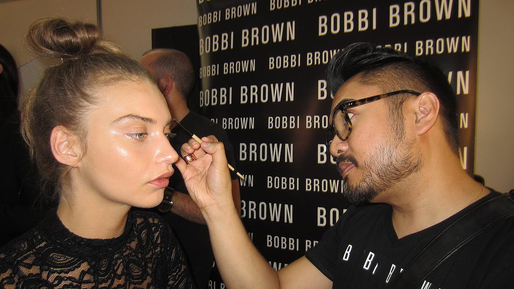 Alfie Sadsad, senior artist for Bobbi Brown