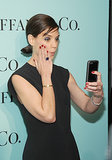 Katie Holmes took a selfie on the red carpet.