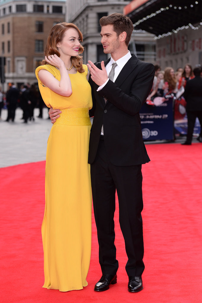 The duo had a cute moment at The Amazing Spider-Man 2 London premiere in April 2014.
