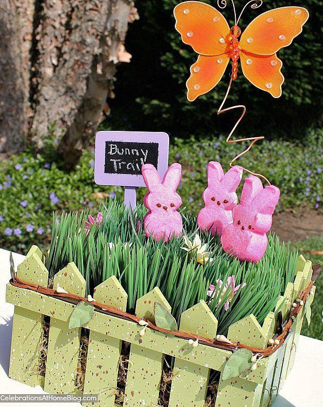 Easter Peeps Garden Centerpiece