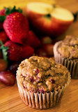 No-Sugar Fruity Muffins With Scrambled Eggs