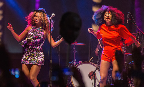 Beyoncé joined her sister, Solange Knowles, for a surprise performance.