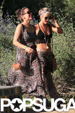 Julianne Hough showed off her festival look with a friend.