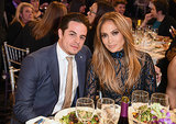 On Saturday, Jennifer Lopez and Casper Smart attended the GLAAD Media Awards in Beverly Hills.