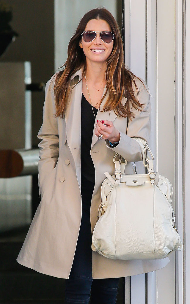 On Sunday, Jessica Biel flashed a smile while running errands in NYC.