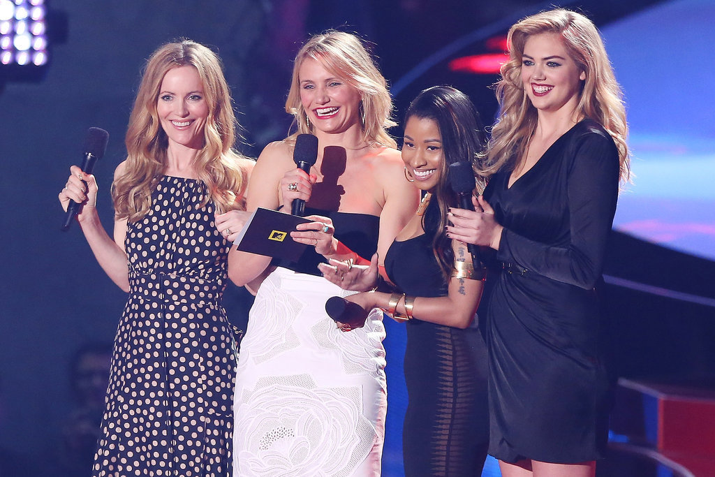 The Other Woman's Leslie Mann, Cameron Diaz, Nicki Minaj, and Kate Upton did a bit together while presenting the award for best male performance.