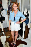 Brittany Snow posed in denim.
