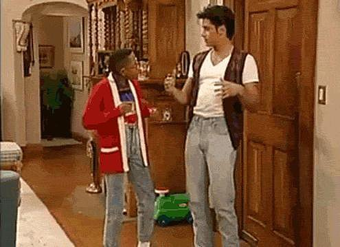 When he helps Urkel with his moves.