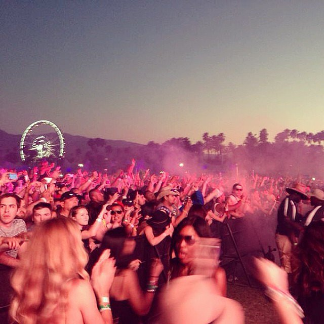 Rosie Huntington-Whiteley took a snap of the Coachella scene. Source: Instagram user rosiehw