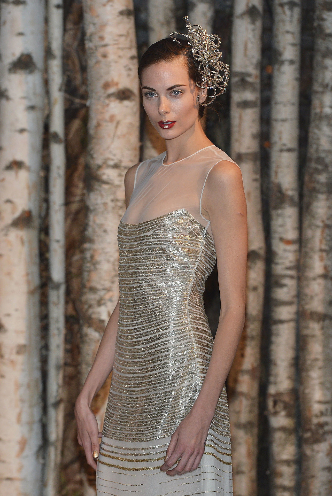 Naeem Khan Bridal Spring 2015 | Zoom In on the Regal Hair and Makeup Looks From Bridal Fashion ...
