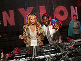 Zoe Kravitz and her cousin, DJ Ruckus, met up at Nylon and Guess's Neon Carnival bash.