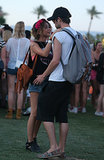 Sarah Hyland and boyfriend Matt Prokop shared a sweet moment.